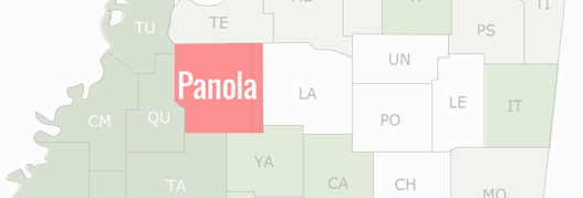 Panola County Map