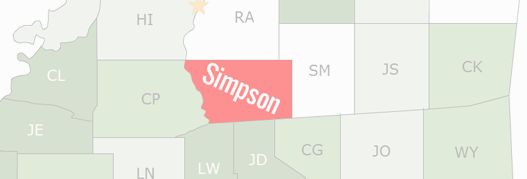 Simpson County Map