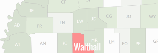 Walthall County Map
